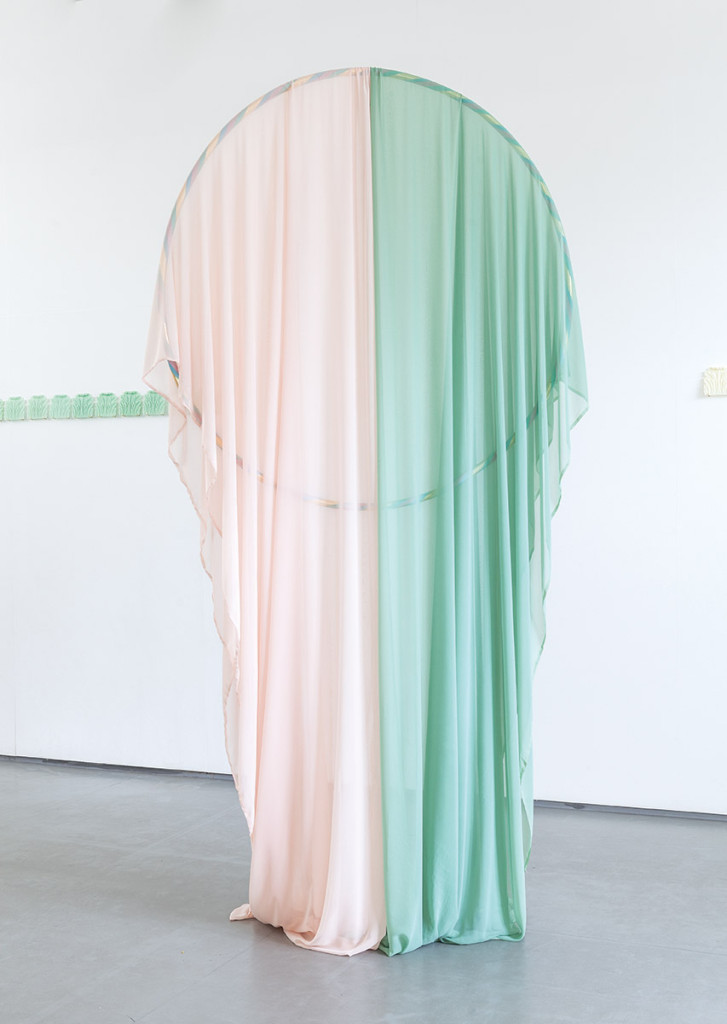 The Dandy & the Mute, installation view, hoop/drapery, photo: Ric Bower